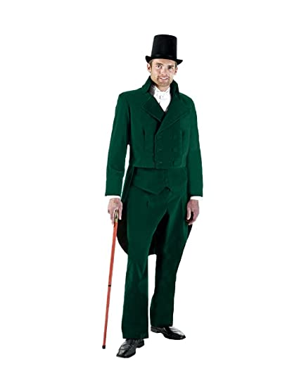 Victorian Costumes: Dresses, Saloon Girls, Southern Belle, Witch Mens Charles Dickens Caroler Tail suit Theater Costume $399.99 AT vintagedancer.com