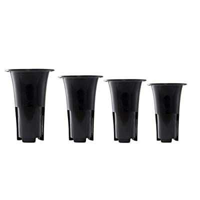 LOVIVER 4 Pieces Orchid Pots with Breathable Holes, Indoor Plastic Plant Pots for Cymbidium Phalaenopsis Orchid, S/M/L/XL : Garden & Outdoor