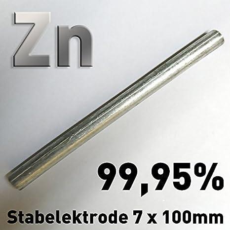 f/ür Elektrolyt Electroplating Stylus Anode Victims Anode Zinc 100//≠ 8 Zinc Bar Anode//Electrode 10/cm x 7/mm 1