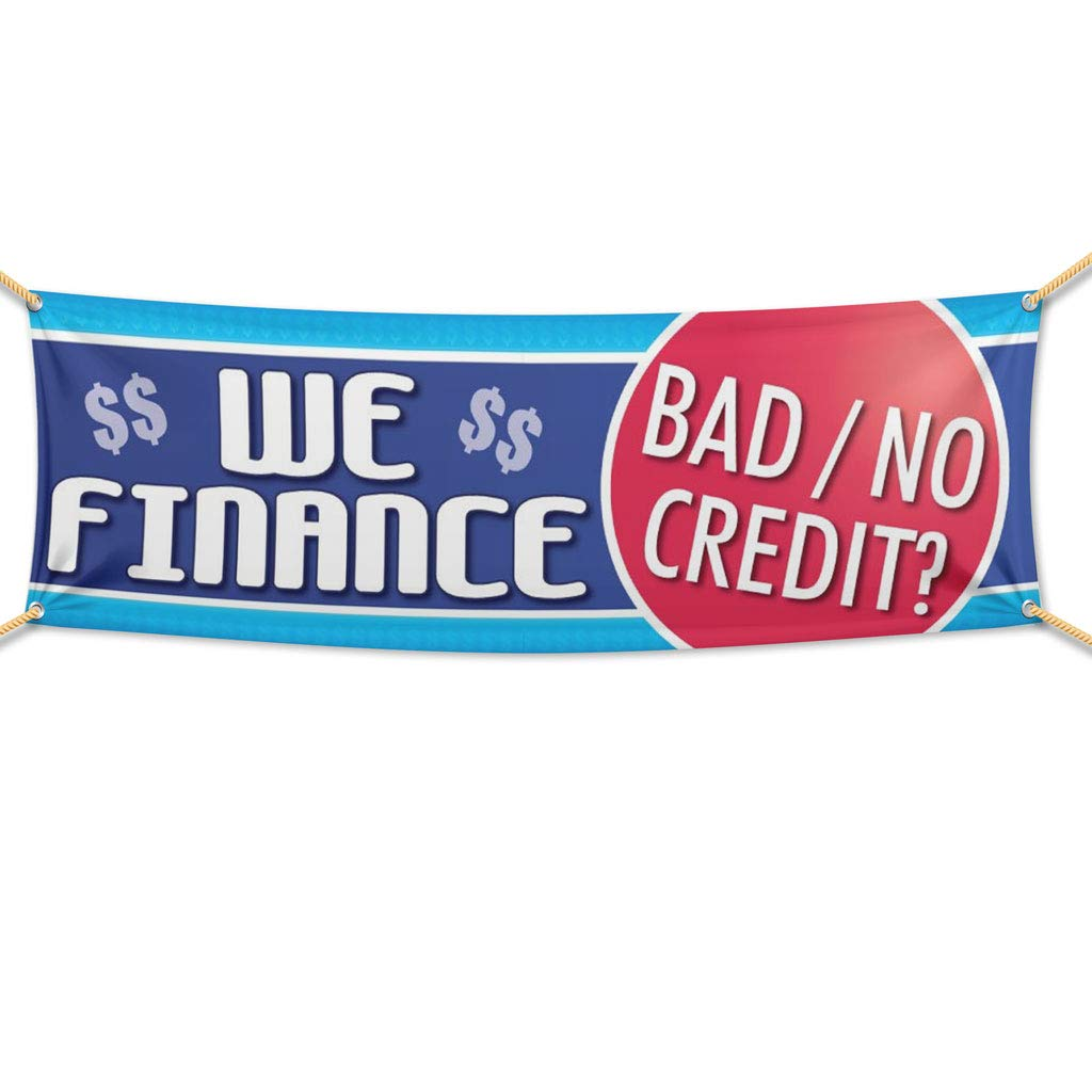 No Credit Auto Sales >> Victorystore Outdoor Banners Auto Sales Banner 2 Feet X 6 Feet We Finance Bad Credit 10 Ounces Vinyl Banner With Grommets For Hanging Car Dealer