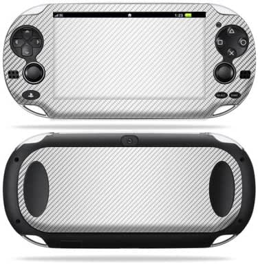 MightySkins Skin Compatible with Sony PS Vita – White Carbon Fiber | Protective, Durable, and Unique Vinyl Decal wrap Cover | Easy to Apply, Remove, and Change Styles | Made in The USA