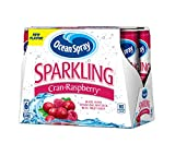 Ocean Spray Sparkling Juice, Cranberry Raspberry, 6 Count, 8.4 oz (Pack of 4)