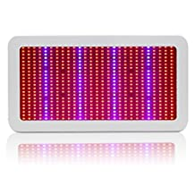 600W Full Spectrum LED Grow Light Panel for Indoor Plants Veg and Flower Hydroponic Greenhouse Growing, with UV/IR Chips and US Plug, AC85~265v