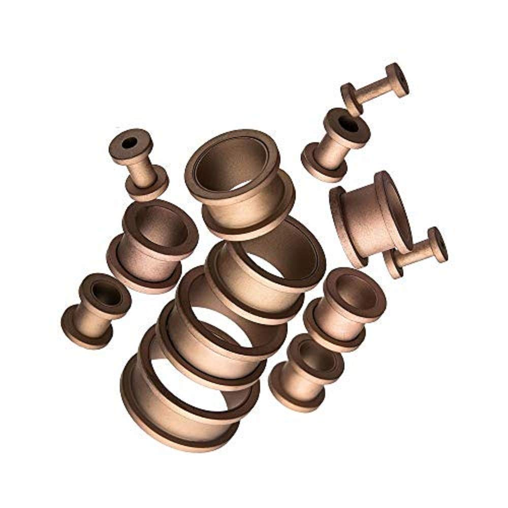 GranTodo 316 Surgical Steel Smooth Matte Finish Rose Gold Plated Screw Fit Plugs
