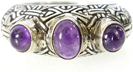 Amethyst Ring Round stone Ring Handmade Jewelry,Boho Jewelry Gemstone Ring 925 Silver Ring Silver Designer Ring Sterling Silver Ring
