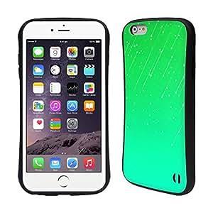 Head Case Designs Green Neon Rain Ombre Hybrid Gel Back Case for Apple iPhone 6 Plus 5.5