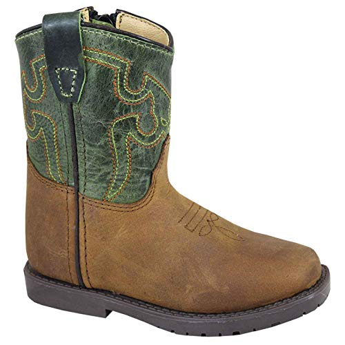 Smoky Jesse Children Cowboy Boot, Brown, 9M -