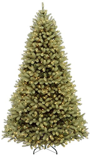9' Pre-Lit Downswept Douglas Fir Artificial Christmas Tree - Dual Color LED Lights (Christmas Tree With Dual Lights White And Multicolored)