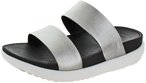 5371cbd4afc7 Fitflop Womens LOOSH Slide Silver Mules 6  Amazon.co.uk  Shoes   Bags
