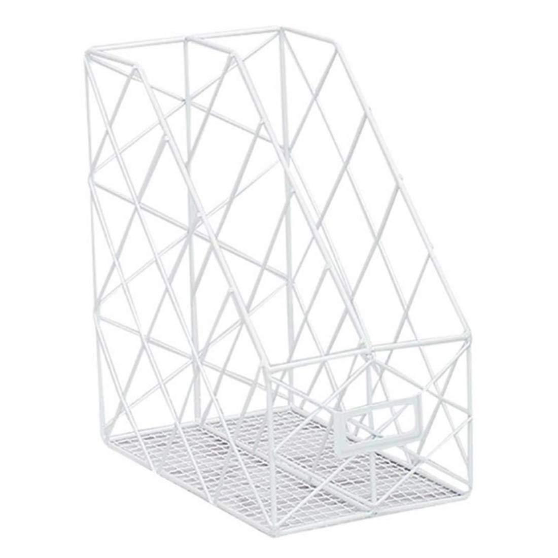 UOPJKL Cestini per mensole,desktop Bookshelf,file Frame, cestino per scaffali, ripiani e scrivanie - bianca