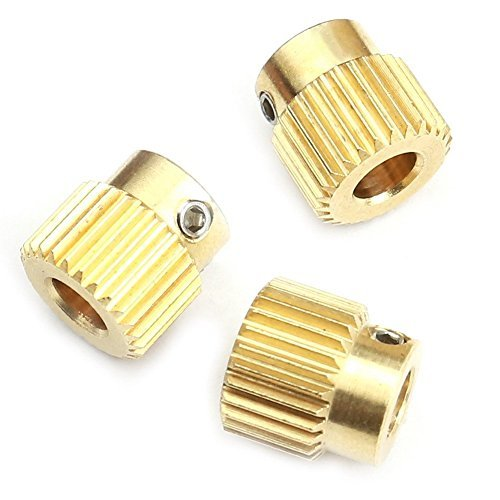 3D Printer Extrusion Wheel 26 Tooth Gear Special Brass Wire Feed Wheel Gear,For DIY New 3D Printer Extruder,3PCS(1 set) KINGSEE Parts And Accessories