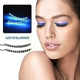 skinosm SKINOSM LED Eyelashes Sound Control Flashing Lashes Interactive Shining Eyeliner for Party Nightbar Holiday Makeup(Unisex, Waterproof, Blue Lights, 7 Flash Modes)