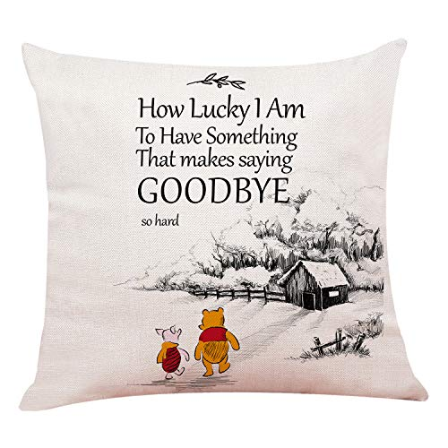 chillake Classic Winnie The Pooh Quotes Pillow Covers - Funny Pooh Pillow Case Cushion Cover for Sofa Couch Decor Home Decorations 18