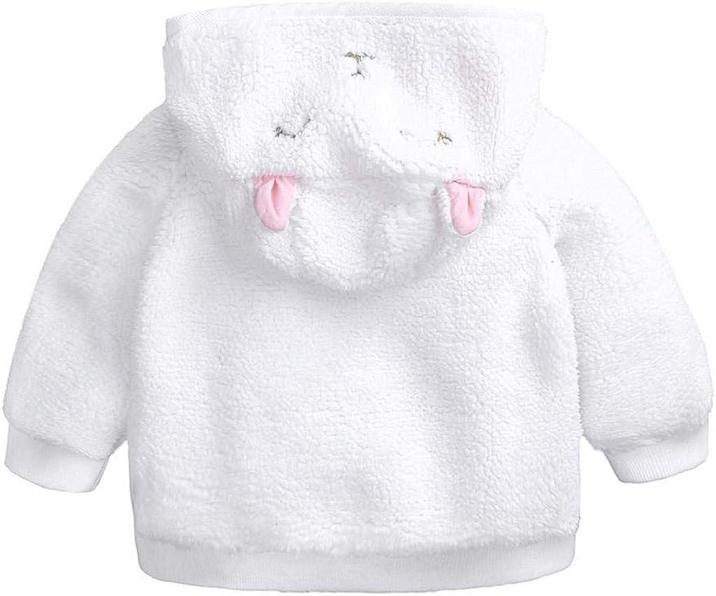 VICGREY ❤ Bambino Neonato Cappotto con Cappuccio Autunno Inverno Coniglio con Cappuccio Cappotto di Velluto Spessore Giacca Spessa Cappotto Caldo Pelliccia Giacca Cotone Cappotto