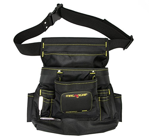 10 Pocket Tool Pouch - MagnoGrip 002-412 10-Pocket Magnetic Tool Pouch with Belt, Black