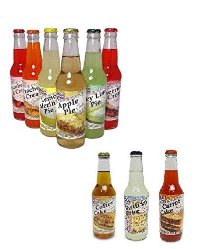 Melba's Fixins Dessert Flavored Sodas 9 pack - 12oz Bottles of 9 sweet dessert flavors! by Melba's Fixins