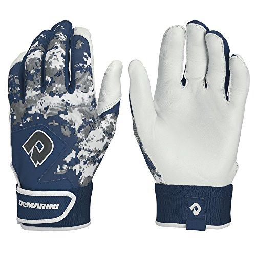 DeMarini Digi Camo II Youth Batting Gloves, Navy, Large, Pair+F25