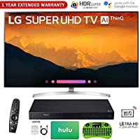 LG 65 4K HDR Smart LED AI Super UHD TV ThinQ (2018 Model) with Bonus UHD Blue-Ray + $100 Hulu Card + 1 Year Extended Warranty and More! (65 SK9000)