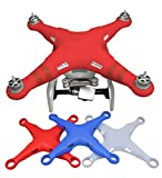 Owoda Silicone Dustproof Body Cover Scratch Dirt Thickened Water Splash Case Protection Protective Soft Shell Spare Parts for DJI Phantom 3 (Red)