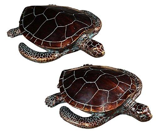 Sea Turtle Bronze Sculpture (Sheldon Statues)
