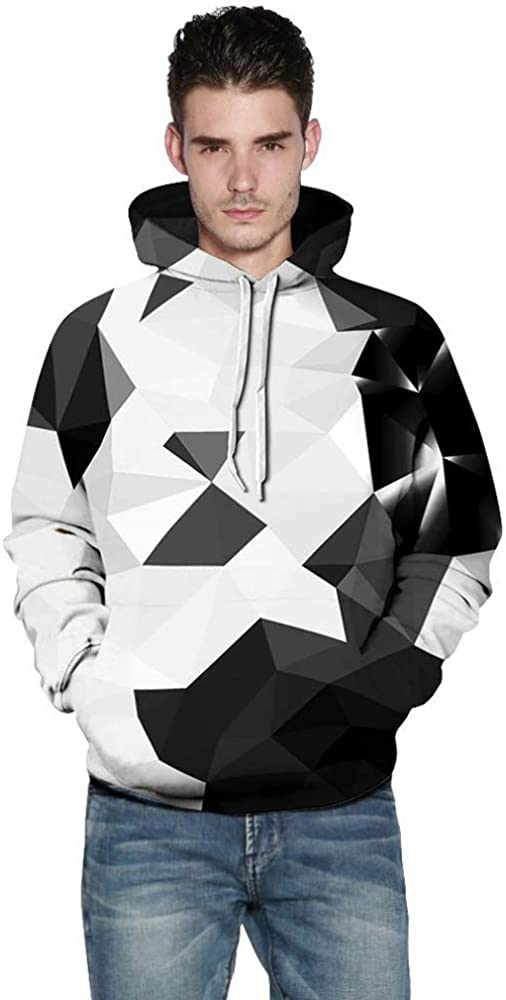 Unisex Fashion Print Autumn Winter Pullover with Pocket XFentech 3D Hoodie