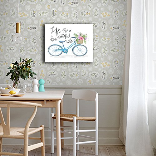 Life is A Beautiful Ride BICYCLE CANVAS Wall Art Home Décor