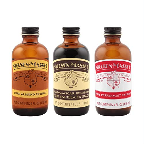 Nielsen-Massey Holiday Flavors Bundle, 4 ounces (Nielsen Massey 4 Ounce Pure Almond Extract)