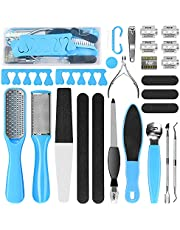 Professional Pedicure Kit, Rosmax Pedicure Set Foot Scrubber Foot Care Kit Foot File Dead Skin Callus Remover, Foot Spa Set at Home Pedicure Tools Pedicure Supplies for Cracked Skin