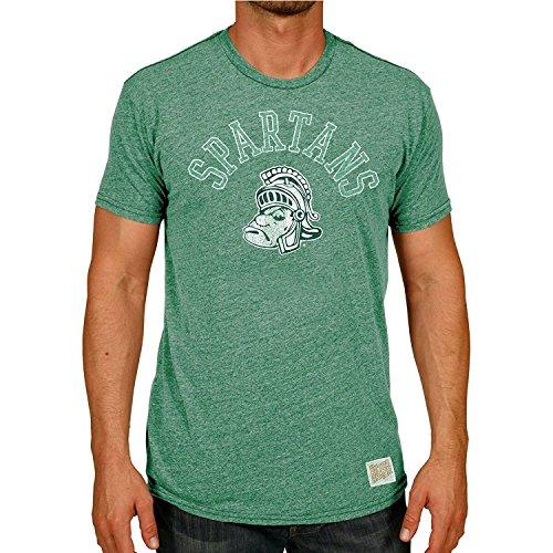 Retro Brands NCAA Michigan State Spartans Green Mock Twist Ringer T-Shirt ()