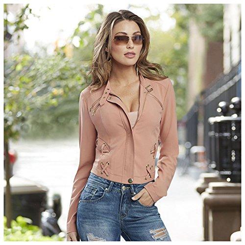 Blush Moto Jacket - Pink Jordan Jacket