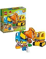 LEGO Duplo - graafmachine en vrachtwagen, ideaal geschenk voor 2 jaar