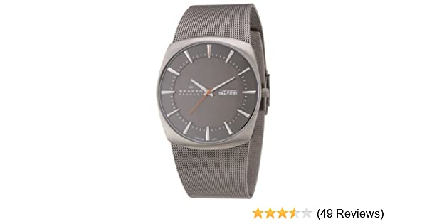 Amazon.com: Skagen Mens Quartz Titanium and Stainless Steel Casual Watch, Color:Silver-Toned (Model: 696XLTTM): Skagen: Watches