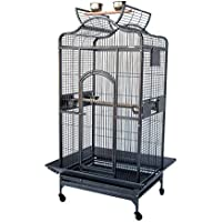 Grande Open Roof Parrot Bird Aviary Cage for Cockatoo Cockatiel Parakeet(Small)