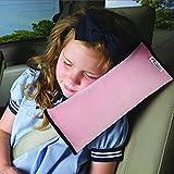 autolover Los niños coche cuello almohada almohadilla de hombro Vehículo Cinturón de Seguridad cojín reposacabezas suave (Rosa)...