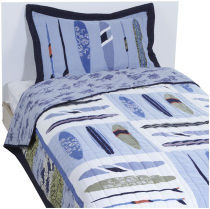 PEM America Catch A Wave Multicolor Quilt Set - Twin (Pem America Twin Bedding)