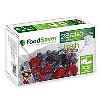 FoodSaver - Bolsas de sellado al vacío precortadas de 1 pinta con construcción multicapa sin BPA para la conservación de alimentos, 28 unidades
