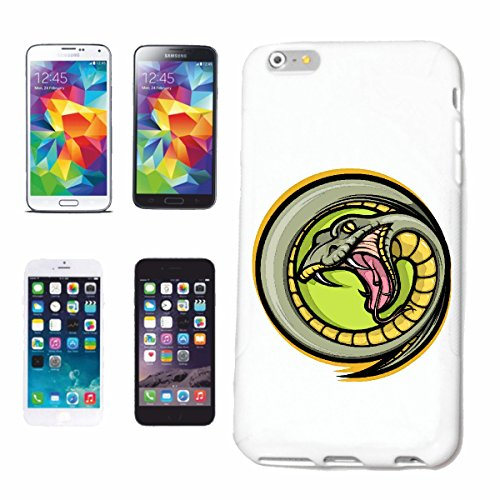 "cas de téléphone iPhone 6+ Plus ""COBRA SNAKE RATTLESNAKE VIPER Lifestyle Mode STREETWEAR HIPHOP SALSA LEGENDARY"" Hard Case Cover Téléphone Covers Smart Cover pour Apple iPhone en blanc"