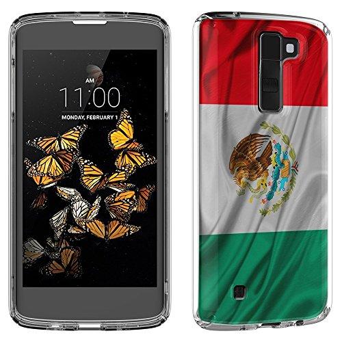 Flagge Mexiko, Winken, Das Kristallklare Ultradünn Gel Crystal Silikon Handyhülle Schutzhülle Handyschale mit Farbig Design für LG K8