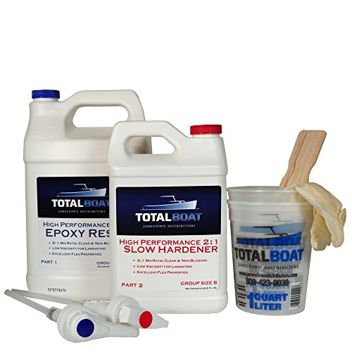 TotalBoat 2:1 High Performance Epoxy Kits (Gallon, Slow) (Clear Marine Coat)
