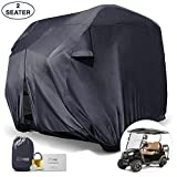 Superior-Strength(TM) Universal 4-Passenger (EZ GO, Yamaha) Golf Cart Storage Cover Kit. 210D Grey Material Provides Strong Wind & Rain Protection. Complete With Bungee Cords, Lock and Patch Kit.