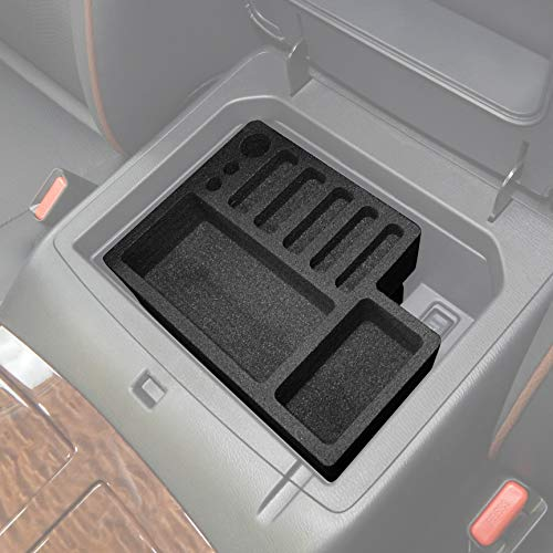 Red Hound Auto Center Console Organizer 2 Piece Stacking Set Vehicle Inserts Compatible with Nissan Armada 2017-2019 Black Anti-Rattle Made in USA (Best Phone Carrier 2019)