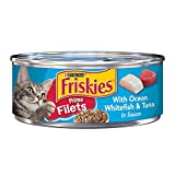 Cheap Friskies Prime Filets with Ocean Whitefish & Tuna in Sauce Cat Food, Case of 24