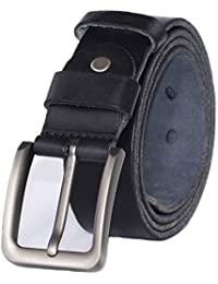 PAZARO Men's Super Soft Top Grain 100% Leather Belt
