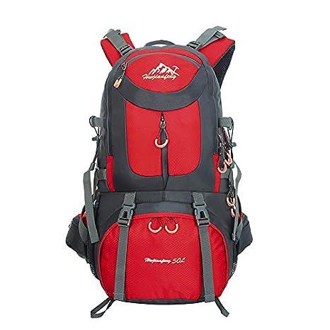 Mochila de 50 litros, ideal para deportes al aire libre, Senderismo, Trekking, Camping Travel, Escalada. Bolso impermeable del alpinismo, Daypacks que suben ...