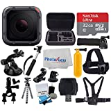 GoPro HERO5 Session 10MP – Waterproof to 33, Wi-Fi & Bluetooth + SanDisk 32GB + Head & Chest Strap + Flexible Tripod + Extendable Monopod + Medium Case + Bike Mount + Floating Handle + Accessories