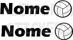 AWS 2 pegatinas Sport con nombre personalizados H 2 cm Voleibol ...