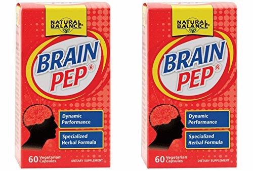 2Pack! Natural Balance Brain Pep - 60 Capsules