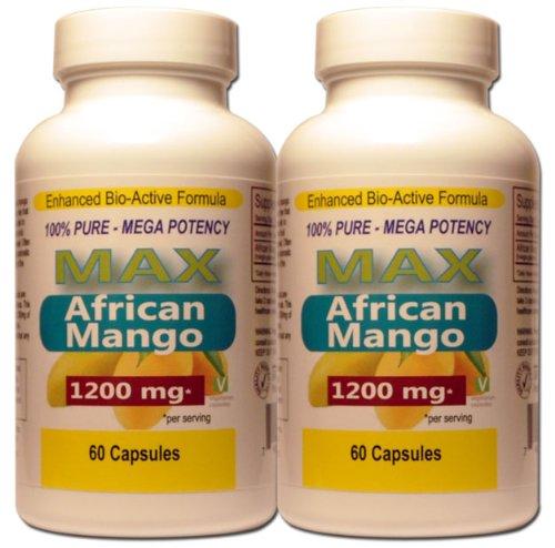 African Mango 1200 mg par Max (Twin Pack) 100% Pure Irvingia gabonensis