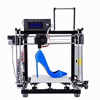 HICTOP Filament Monitor Desktop 3D Printer Reprap Prusa I3 Full Aluminum Frame MK8 DIY Kit CNC Self-assembly Tridimensional Printing size 10.6  x 8.3  x 7.7