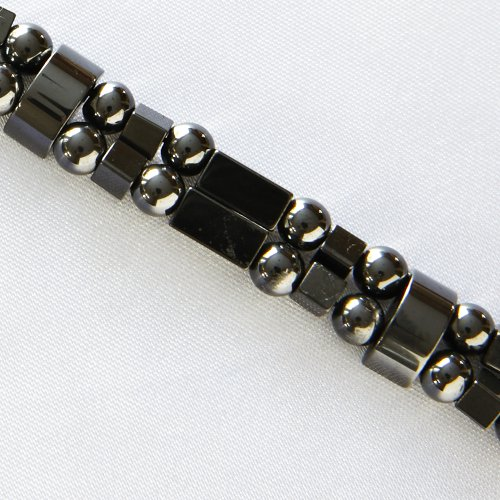 Boxcar Magnetite Magnetic Bracelet - Double Strand - Black, 7IN ()